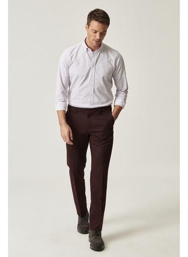 Altınyıldız Classics Slim Fit Casual Pantolon 4A0119100042 Bordo
